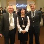 Перед началом встречи на стенде Cartier — with Alexander Zhuravlev, Svetlana Ruzaeva and Vladimir Borisov.