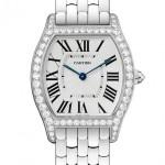 Cartier Tortue watch medium size model in white gold with diamonds Мануфактурный калибр 430 MC, ручной завод Корпус: 18К белое золото, бриллианты (1.5 кт) Браслет: 18К белое золото