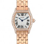 Cartier Tortue watch small model in pink gold with diamonds Мануфактурный калибр 8970 MC, ручной завод Корпус: 18К розовое золото, бриллианты Браслет: 18К розовое золото
