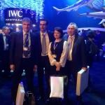 По окончании встречи на стенде IWC с приятными сувенирами в руках. — with Vladimir Borisov, Thomas Perini, Svetlana Ruzaeva and Alexander Zhuravlev.