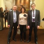 Перед нчалом встречи у стенда Officine Panerai — with Alexander Zhuravlev, Svetlana Ruzaeva and Vladimir Borisov.