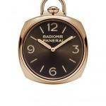 PANERAI POCKET WATCH 3 DAYS ORO ROSSO PAM00447 • Карманные часы, ручной завод P.3001/10 , красное золото, 50 мм, запас хода – 3 дня, циферблат коричневого цвета, сапфировое стекло, 50 м, цепочка из красного золота