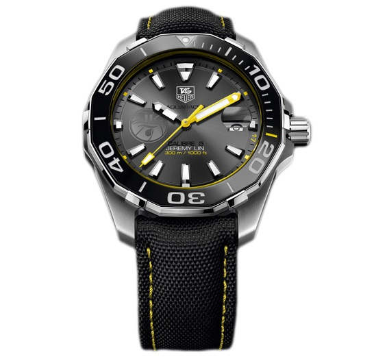 TAG HEUER AQUARACER CALIBRE 5 41 MM JEREMY LIN SPECIAL EDITION