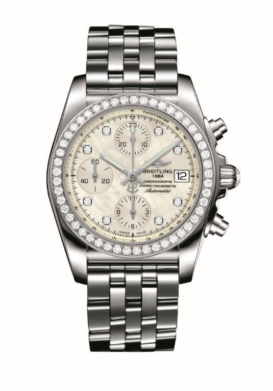 Chronomat 38 SleekT-diamond bezel