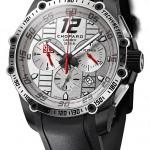 """Chopard Superfast Chrono Porsche 919 Only Watch: титан, автоподзавод, Chopard 03.05-М, хронограф, хронометр, 45,00 мм/ 15,08 мм, водонепроницаемость до 100 метров. """"Изюминка"""" - факсимиле подписи лидера команды Porsche, гонщика Марка Уэббера . Сочетание цветов циферблата и расположенных на нем элементов - серебристого, черного и красного - соответствует цветам команды Porsche Motorsport, партнера марки."""