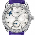 Hermès Arceau Petite Lune with diamonds