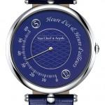 Van Cleef & Arpels Pierre Arpels Heure d'ici & Heure d'ailleurs Only Watch: 18К белое золото, автоподзавод, запас хода – 48 часов, «прыгающие» часы и ретроградные минуты. Уникальные пикейный декор циферблата.
