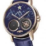 """Dewitt Academia Out of Time Unique Piece for Only Watch: 18К розовое золото и черный каучук, автоподзавод, мануфактурный механизм DEWITT DW1201 с запасом хода в 65 часов, 42,50 мм х 12,85 мм, лаковый циферблат; особенность: два секундных указателя - первый, расположенный между отметкам """"4"""" и """"5"""" часов, с помощью стрелки, реализует усложнение """"замирающая секунда"""" или """"dead-beat"""", оно же """"jumping seconds"""", редко встречающееся в механических часах и состоящее в том, что секундная стрелка двигается не плавно, а скачками, что характерно для кварцевых часов ; второй - на круглом указателе положении между """"7""""и """"8"""" часами - это разработка DeWitt, названная """"free seconds hand"""", т.е. отсутствие стрелки в принципе, олицетворяющий связку """"реальное время vs. виртуальное время"""", которое нельзя измерить с помощью обычных методов."""