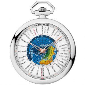 Montblanc 4810 Orbis Terrarum Pocket Watch 110 Years Edition