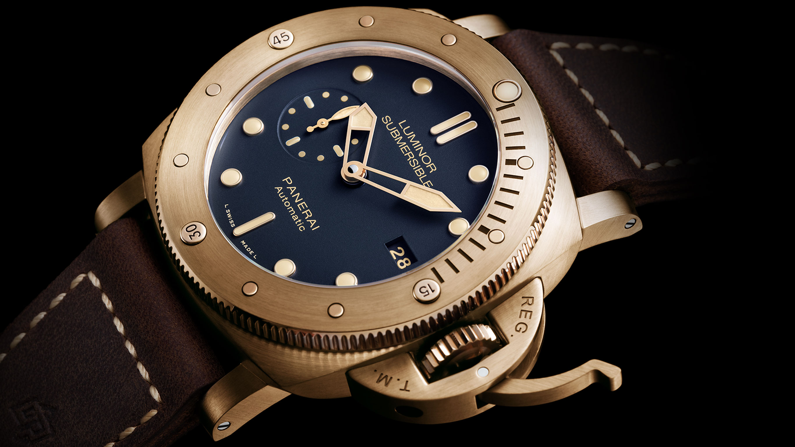 Часы Panerai Luminor Submersible 1950 3 Days Automatic Bronzo 47 mm (Арт. PAM00671)