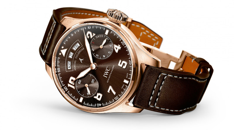Три новые модели от IWC Schaffhausen. Часть 1 — Big Pilot's Watch Annual Calendar Edition Antoine de Saint Exupéry IW502706.