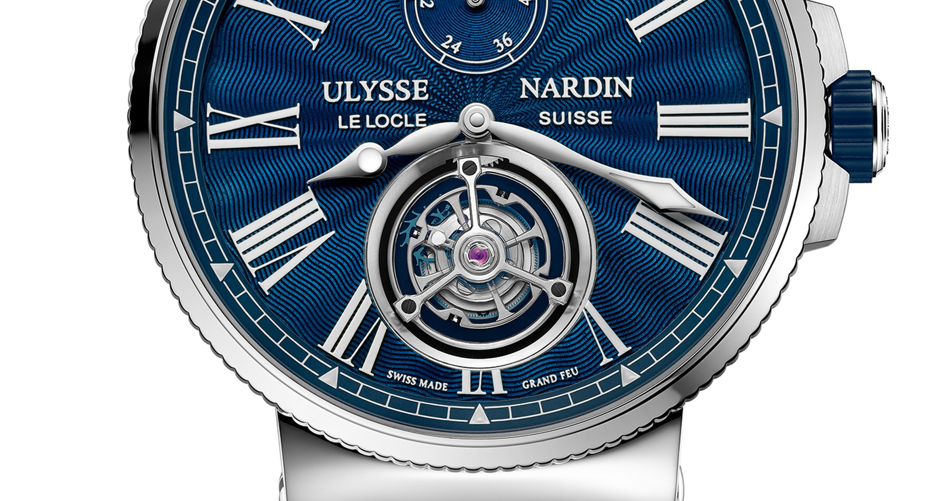 Ulysse Nardin Marine Tourbillon Blue Grand Feu (1283-181/E3)