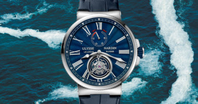 Ulysse Nardin Marine Tourbillon Blue Grand Feu 1283-181/E3