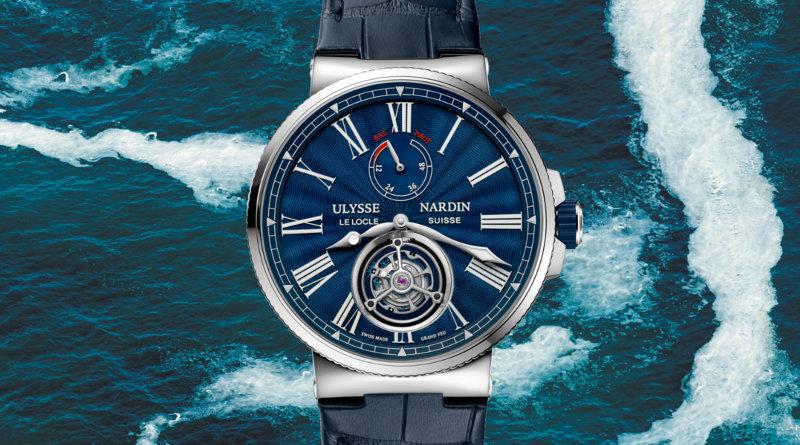 Ulysse Nardin Marine Tourbillon Blue Grand Feu 1283-181/E3