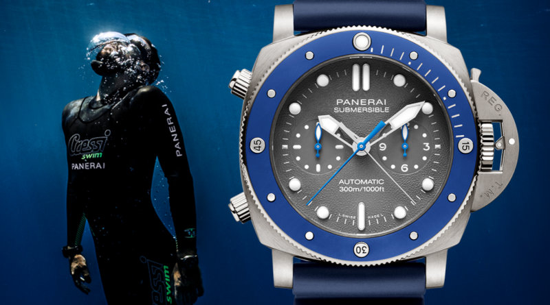 Часы Panerai Submersible Chrono – Guillaume Néry edition