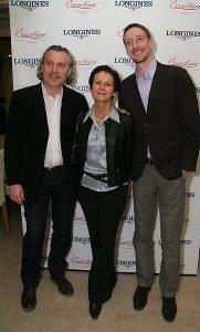 Среди гостей - Александр Журавлев (Eurotime), Вивиан Дюбуржуа (Longines) и Дмитрий Дмитриев (Swatch Group RUS)