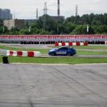 Автодром в Путилково, украшенный логотипами Certina