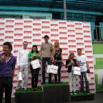 Алексей Баранов (бренд-менеджер Certina по России) приветствует победителей соревнования