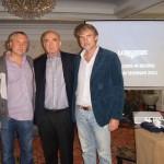 Вальтер фон Кэнел, президент компании Longines (в центре), Александр Журавлев и Владимир Борисов (Eurotime)