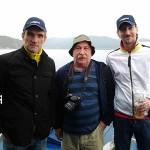 На теплоходе. Владимир Борисов, Александр Толстобров и Дмитрий Дмитриев