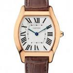 Cartier Tortue watch medium model in pink gold Мануфактурный калибр 430 MC, ручной завод Корпус: 18К розовое золото Ремешок: кожа аллигатора/ застежка-пряжка из 18К розового золота