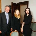 Александр Журавлев (Eurotime), Мария Янковская и Наталья Кирилина (Esquire)