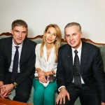 Владимир Борисов (Eurotime), Ирина Ворошилова ( Baume & Mercier) и Владимир Гусынин