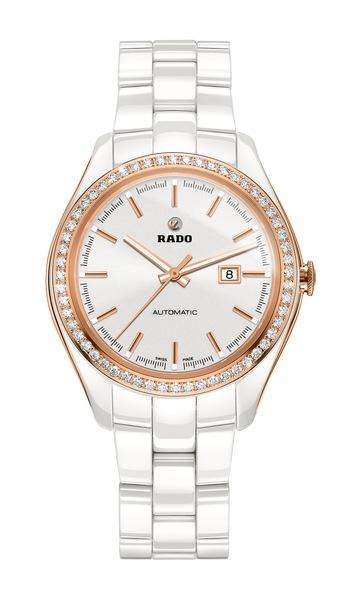 Часы Rado HyperChrome Diamonds  580.0524.3.001 (белый). Керамика, автоподзавод, запас хода – 38 часов, водонепроницаемость – 50 м, диаметр – 36 мм, толщина – 10.4 мм, керамический браслет