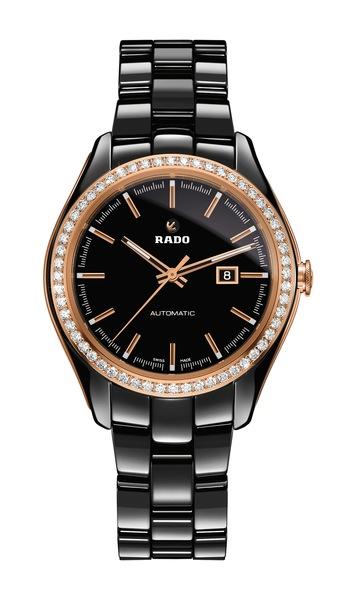 Часы Rado HyperChrome Diamonds  580.0526.3.015 (черные). Керамика, автоподзавод, запас хода – 38 часов, водонепроницаемость – 50 м, диаметр – 36 мм, толщина – 10.4 мм, керамический браслет
