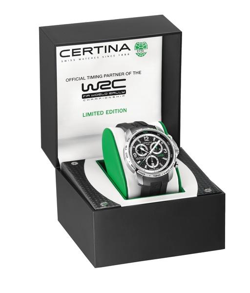 Certina DS Podium Big Size Chronograph – WRC Limited Edition C001.647.17.207.10 Сталь, кварц, хронограф, диаметр – 44 мм, водонепроницаемость 200 м, каучуковый ремешок, лимитированная серия - 5000 экземпляров