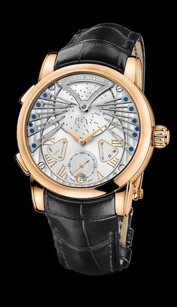 Ulysse Nardin Marine Chronometer Manufacture Vivaldi Артикул: 6902-125/VIV 18К розовое золото, автоподзавод, запас хода – 48 часов, диаметр – 45 мм, водонепроницаемость – 30 м, кожаный ремешок, лимитированная серия – 99 экз.