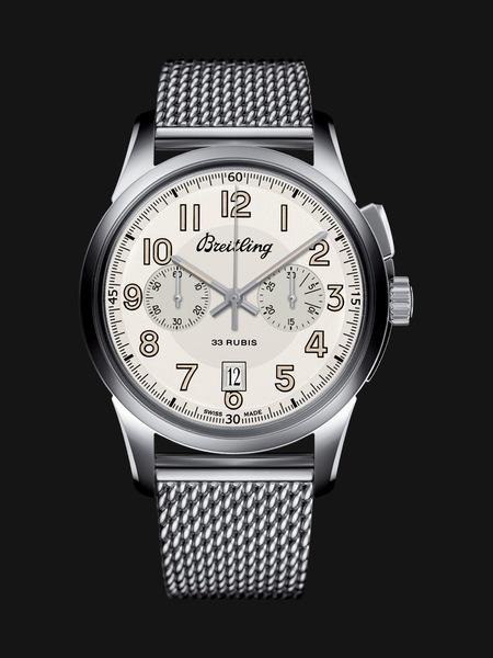 Breitling Transocean Chronograph 1915 Сталь, ручной завод, хронограф,  запас хода – 72 часа, прозрачная задняя крышка, диаметр – 43 мм, толщина – 14.60 мм, кожаный ремешок/ стальной браслет