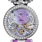 Bovet Fleurier Amadeo Fleurier 39 Lady Bovet: часы- трансформер, 18К белое золото/ бриллианты, ручной завод, переворачивающийся корпус, 2 циферблата: перламутр/эмалевая миниатюра, 39 мм, запас хода - 7 дней