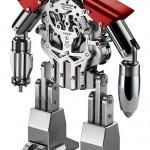 MB&F Melchior 'Only Watch'. Настольные часы в виде робота: латунь с палладиевым покрытием и нержавеющая сталь, «прыгающие» часы, ретроградные секунды и запас хода – 40 дней. Каждые 20 секунд робот моргает глазами; пулемет является ключом для завода.
