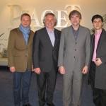 Дмитрий Свитлик, Александр Журавлев, Владимир Борисов (Eurotime) и Филипп Пиоффре (Piaget RUS)