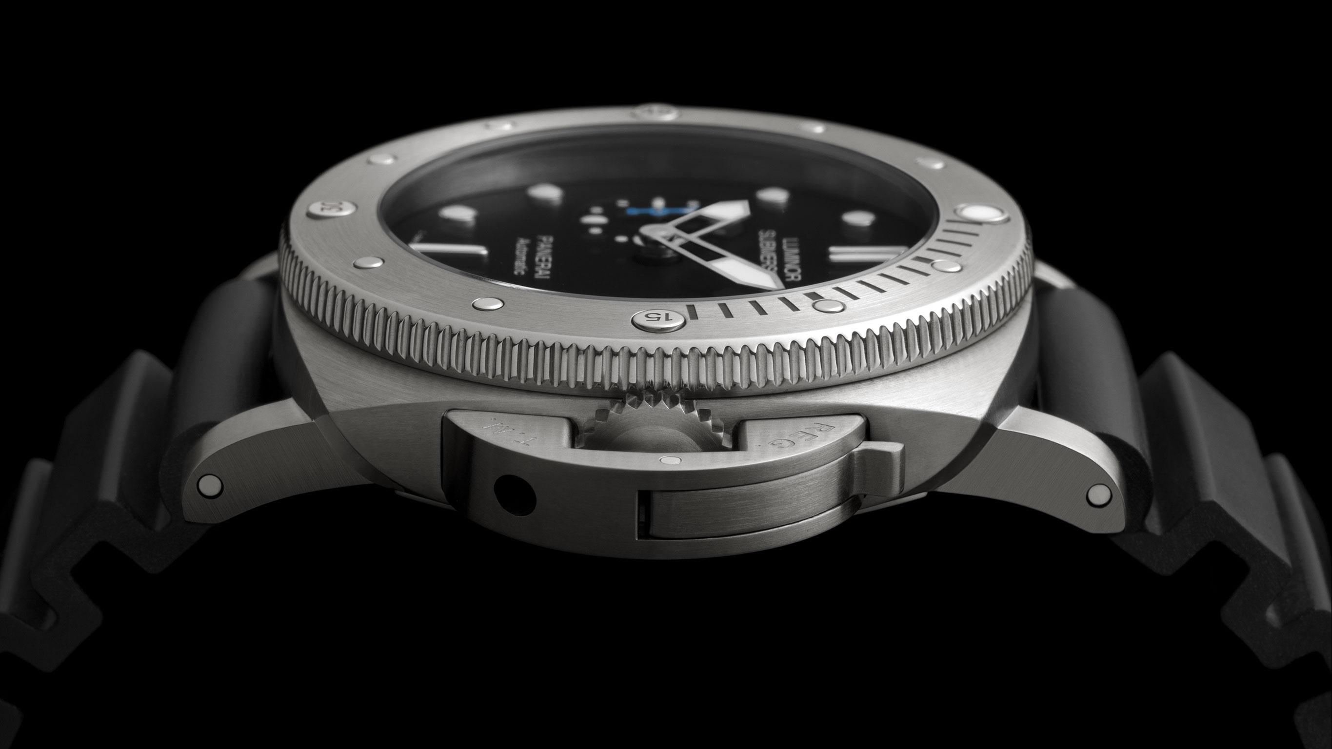 Часы Panerai Luminor Submersible 1950 3 Days Automatic Titanio - 47mm (Арт. PAM01305)