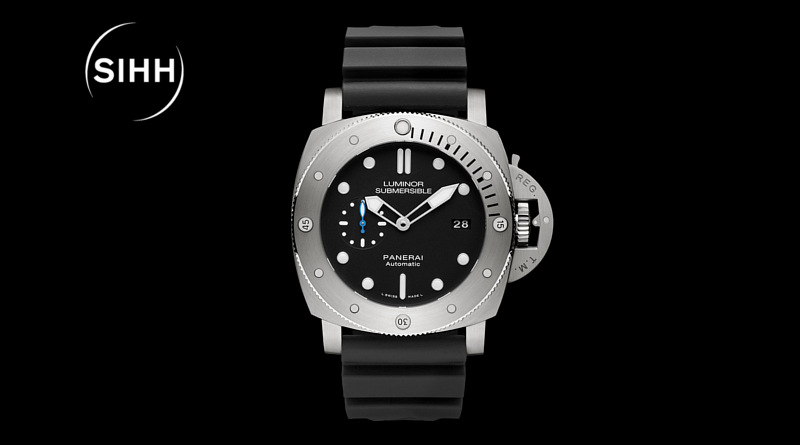 SIHH-2017-Panerai Luminor Submersible 1950 3 Days Automatic titanio - 47 mm