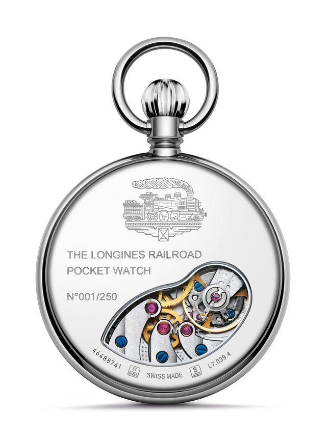 Longines RailRoad Pocket Watch L7.039.4.21.2 Лимитированная серия из 250пронумерованных экземпляров, запас хода - 53 часа, нержавеющая сталь, диаметр49.50 мм