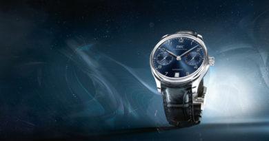 Классические часы IWC Portugieser IW500710 теперь и в синем цвете