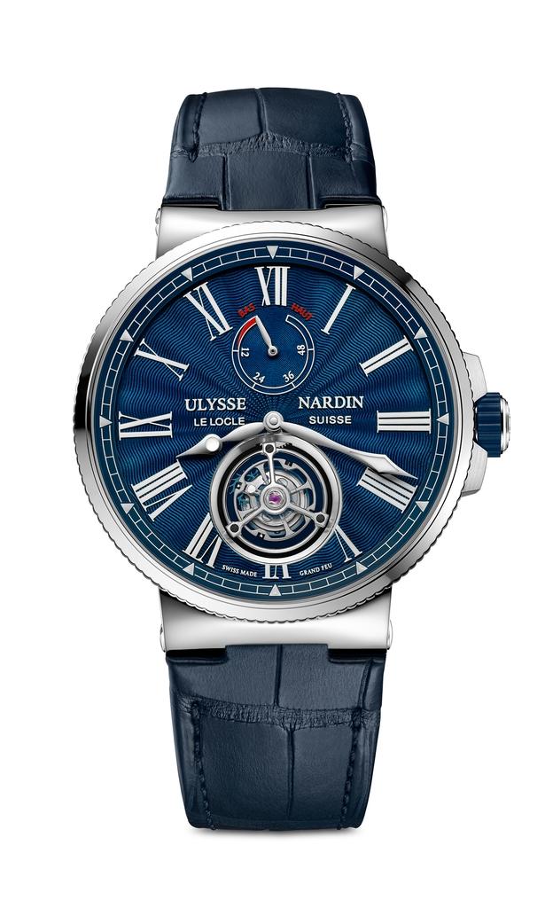 Ulysse Nardin Marine Tourbillon Blue Grand Feu (1283-181/E3)