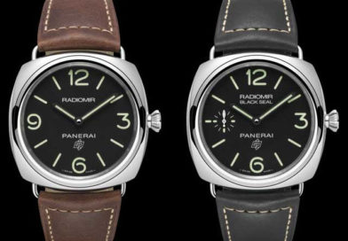 Две новые версии классической модели Panerai Radiomir: Radiomir Logo (РАМ00753) и Radiomir Black Seal Logo (РАМ00754)