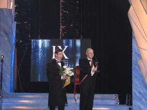 Участники IX церемонии вручения премий «Чайка» Дмитрий Певцов и Алексей Кортнев