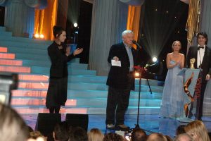 На сцене - лауреат премии «Чайка» 2005 в номинации «Патриарх» Олег Табаков