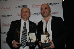 Обладатели Приза за элегантность от Eurotime и Longines - лауреаты Чайки 2007 Александр Сирин и Максим Суханов