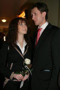 Анна Большова с супругом