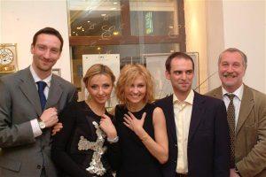 Представители Swatch Group Rus с Татьяной Навка и Ингеборгой Дапкунайте