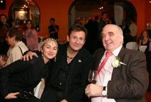 Олег Меньшиков с супругой и Вальтер фон Кэнел